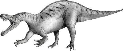 Angry Dinosaur Sketch