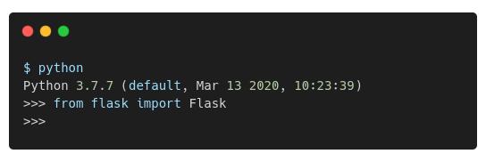 python flask web framework