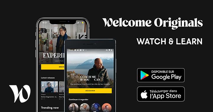 Welcome to the Jungle lance Welcome Originals, une nouvelle App de streaming dédiée au développement professionnel