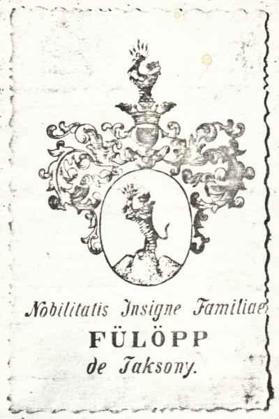 Crest of the Fülöpp family