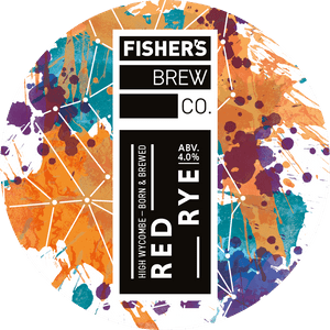 Fisher's Red Rye keg badge
