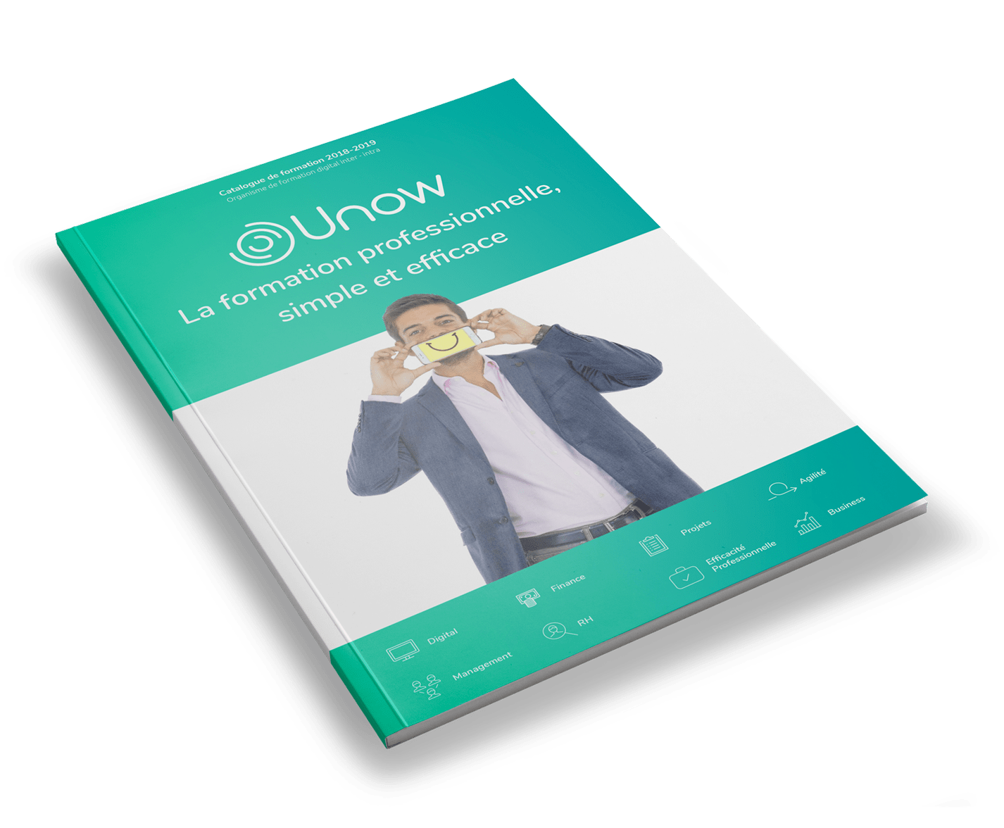 Couverture du catalogue de formations Unow