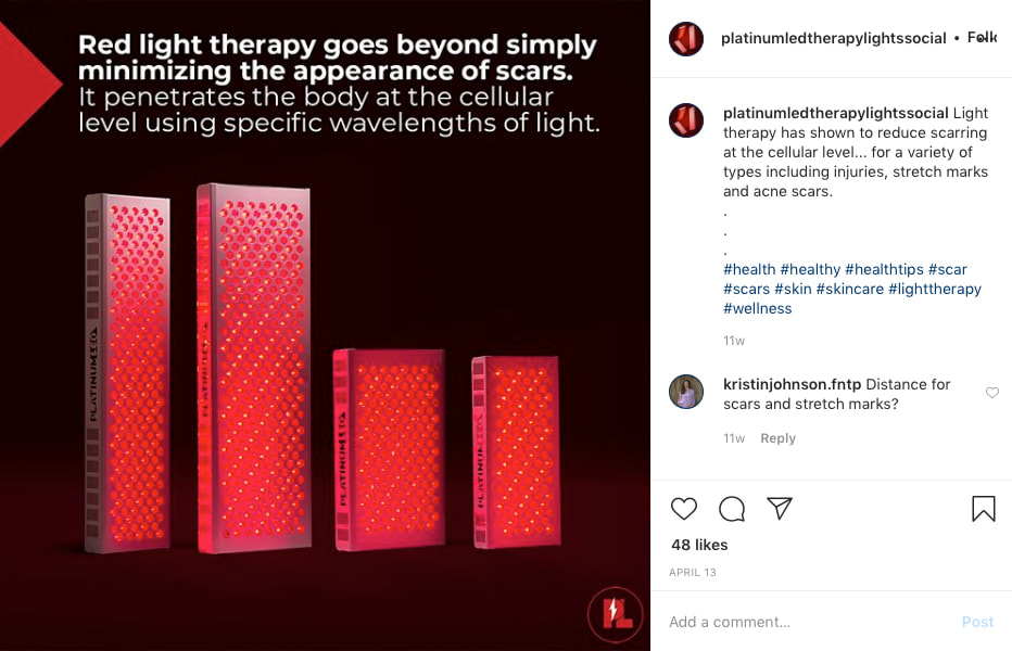 Platinum LED Therapy Lights Instagram Snapshot 1