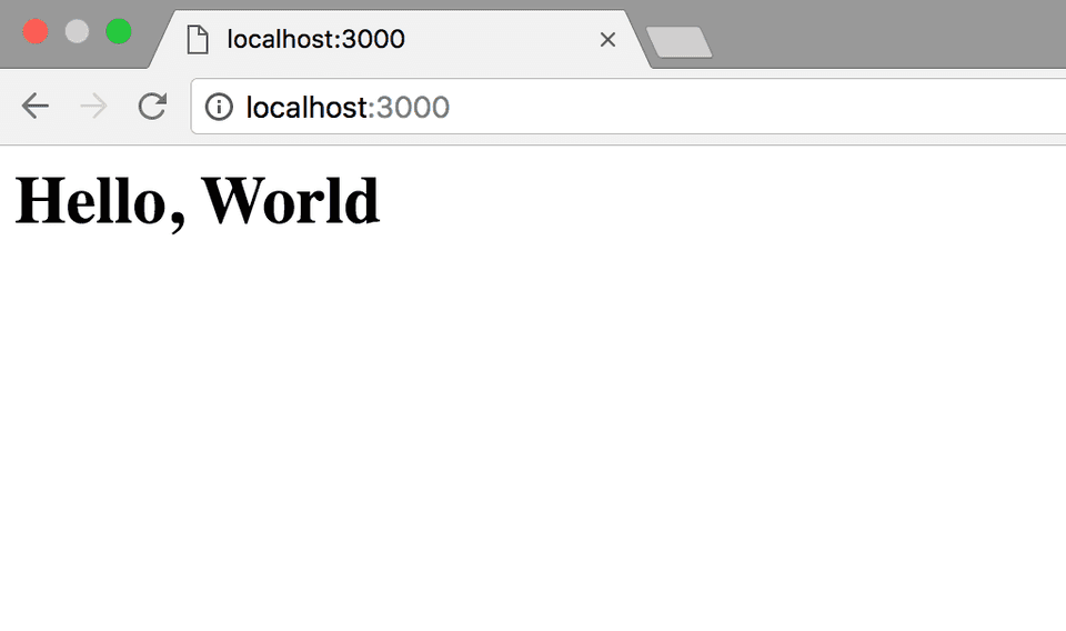 Node.js Getting Started Hello World Web Server