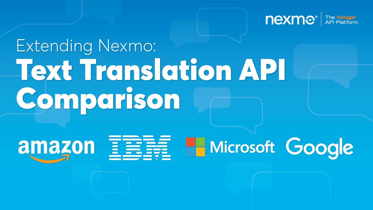 Text Translation API Comparison