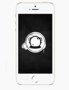 The Astronaut Wallpaper - Stencil Effect iPhone 5/5c/5s
