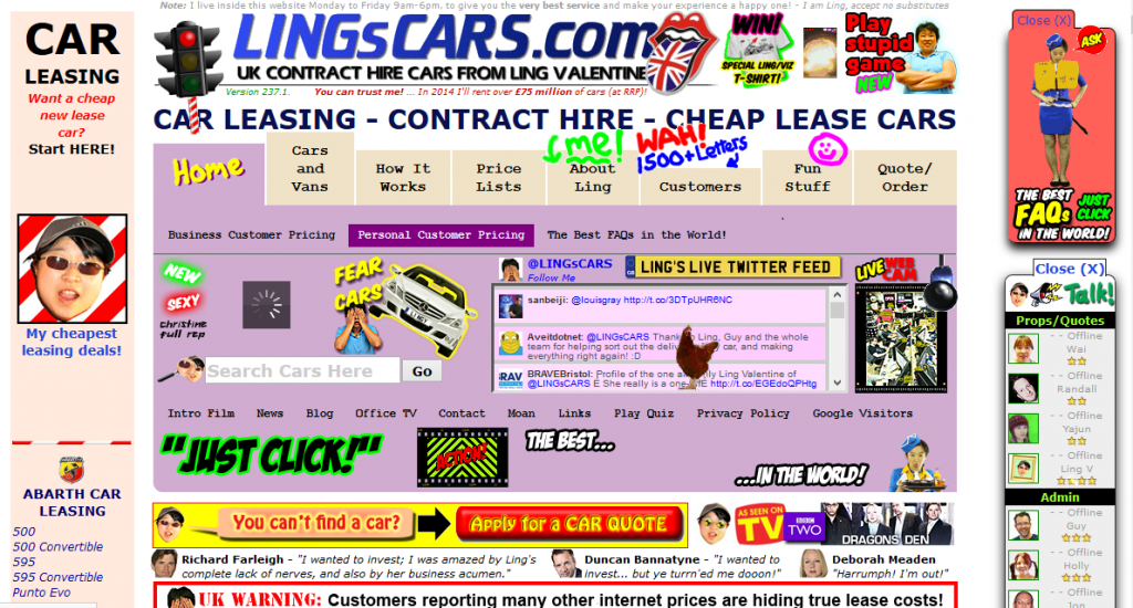 Lingscar website design