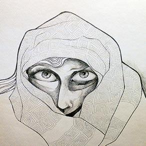 "Lotte Teussink, Holland. ""Louhi"" 2012. Drawing, 29x42cm"