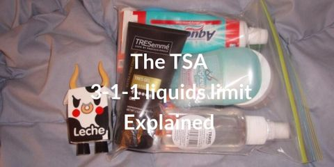 According to TSA 3:1:1 liquids limit rule, any liquid or gel must be in a container that holds no more than 3,4 oz or 100ml. Buy small sizes for travel.
