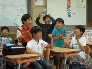 Korean students winning English Quiz