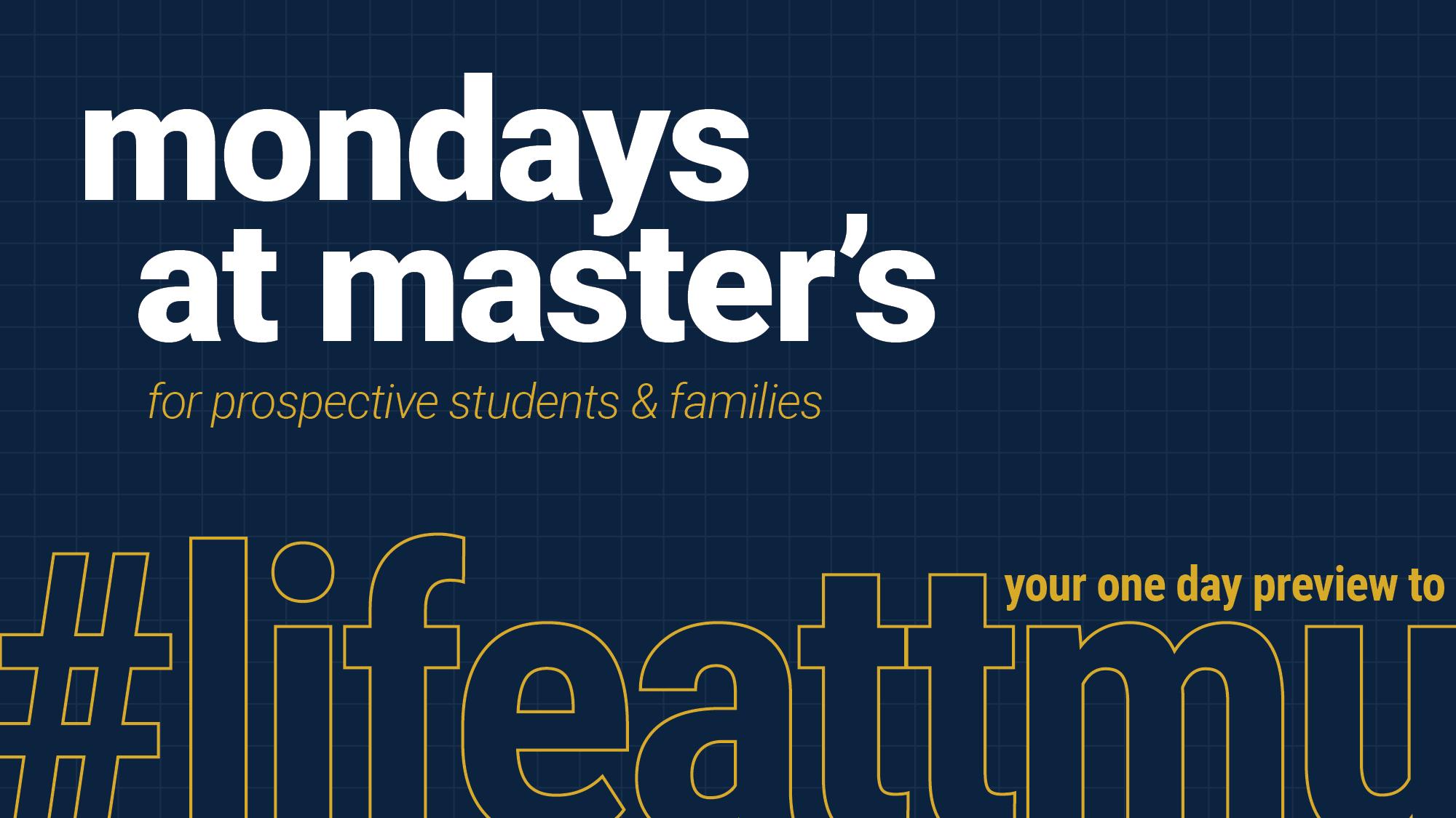 Mondays @ Master's