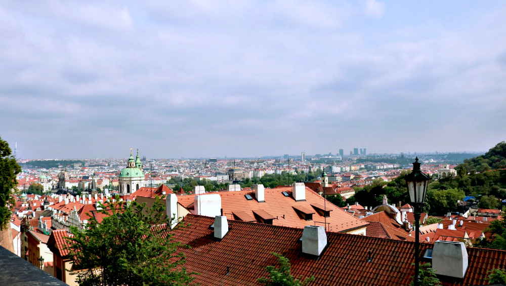 The city of Prague from the Prague Castle, taken by me.