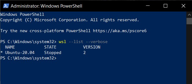Yup, WSL2 is there