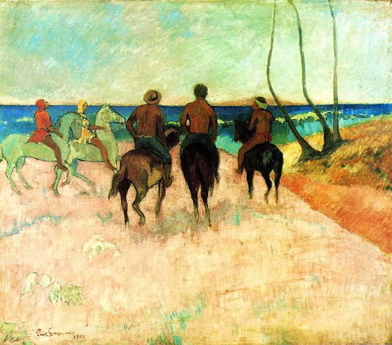 'Riders on the Beach' by Gauguin in 1902, Museum Folkwang