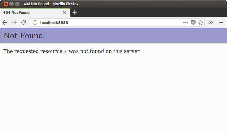 The PHP server is running