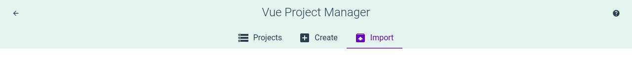 Importación de proyecto