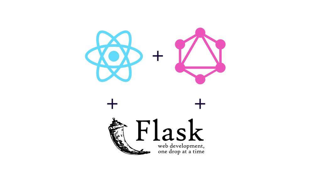 React + GraphQL + Flask logos