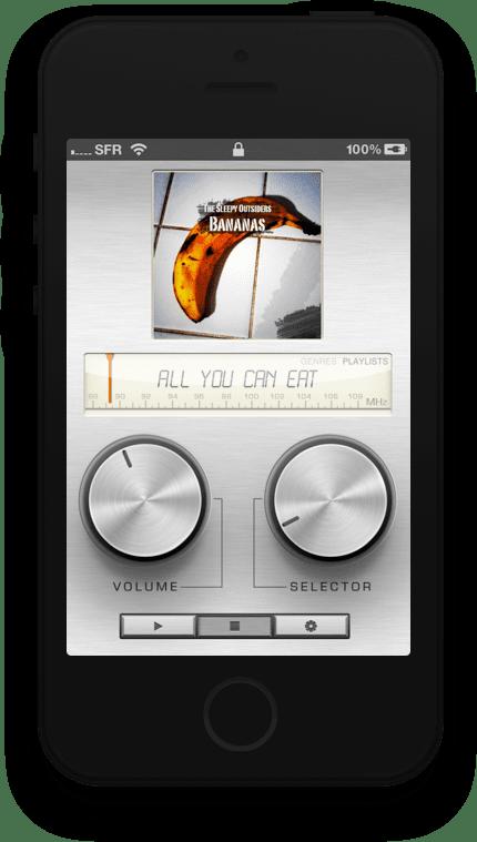 HiFi Tuner playlists screen