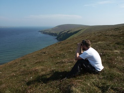 Wildlife watching in Fetlar.