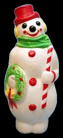 Giant Snowman With Wreath photo