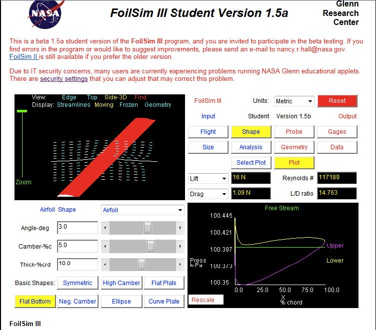 NASA FoilSIM III