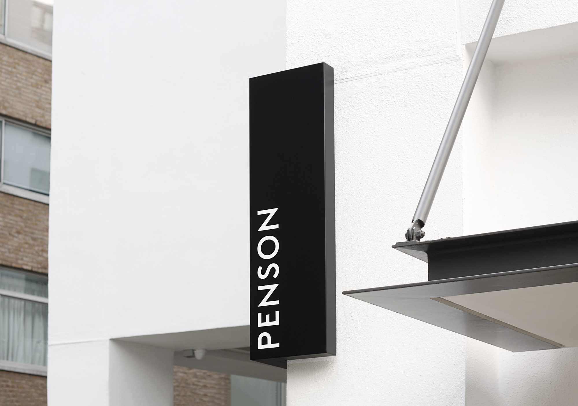 Penson brand identity designed by She Was Only