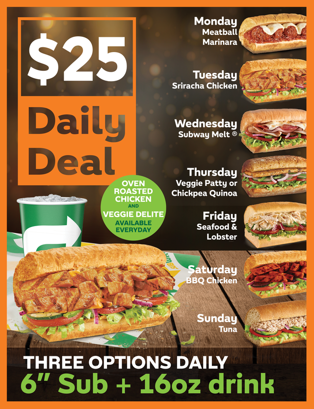 $25 Daily Deal