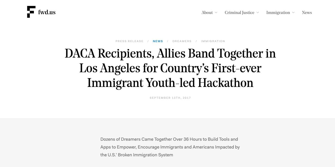 DACA Recipients, Allies Band Together in Los Angeles for Country's First-ever Immigrant Youth-led Hackathon