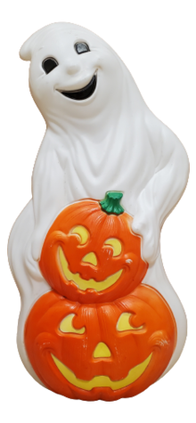 Ghost with Pumpkins photo