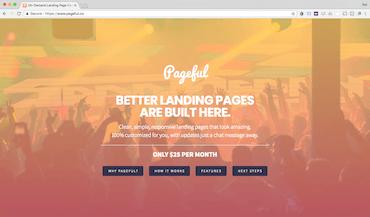 pageful website screenshot