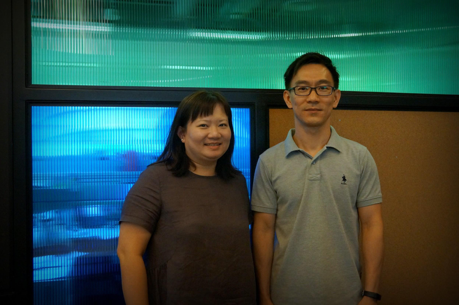 Mr Ng Boon Seong and Ms Lee Pei Pei, GovTech officers seconded to the Ministry of Communications and Information (MCI)