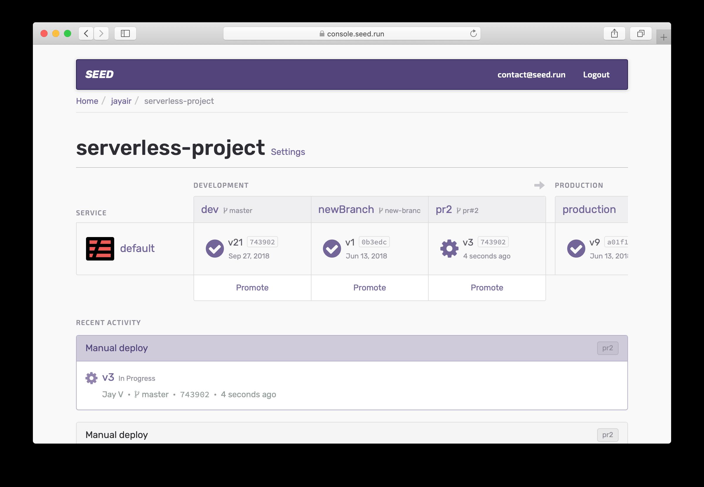 Select in progress build