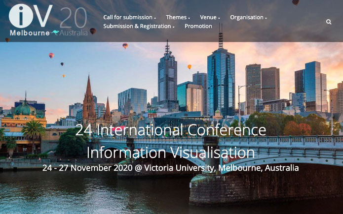 Information Visualisation conference website screenshot