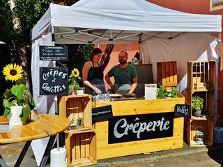 Mobiler Crêpesstand für Caterings im Innen- und Außenbereich von Veranstaltungen und Firmencaterings
