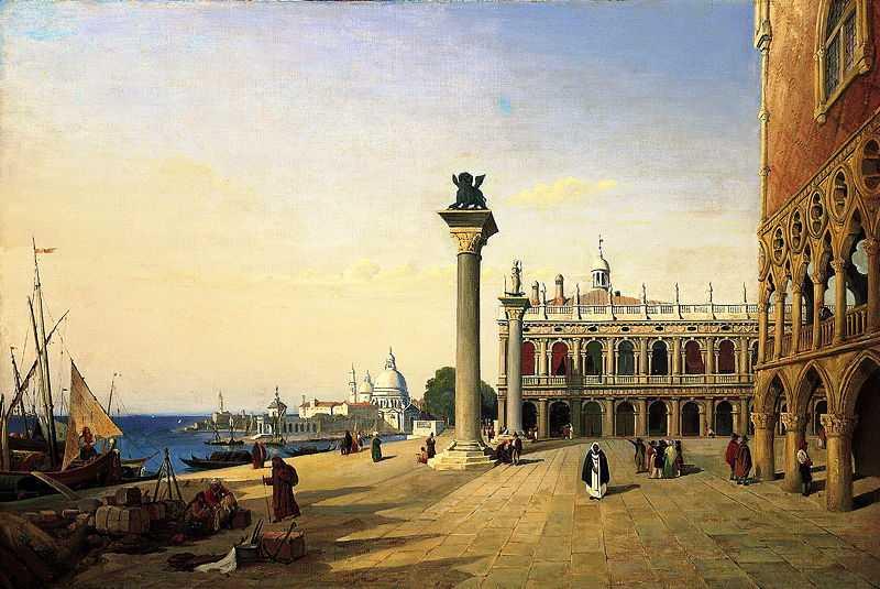 Venise, La Piazzetta, by Camille Corot in 1835