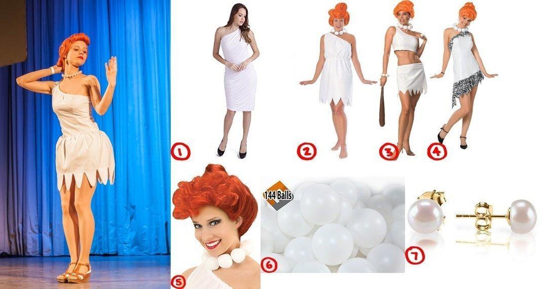 dress like wilma flintstone costume for cosplay halloween