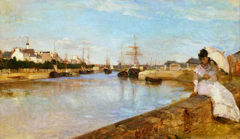 'The Harbor at Lorient' painted by Berthe Morisot in 1869, National Gallery of Art