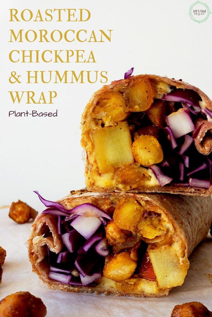 Moroccan chickpea hummus wrap