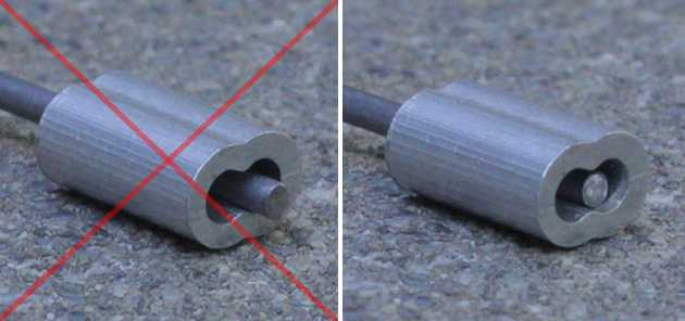 Comparison Images of Correct and Incorrect Cable Ferrule Position