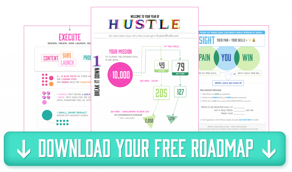 Click for your free Year of Hustle Roadmap