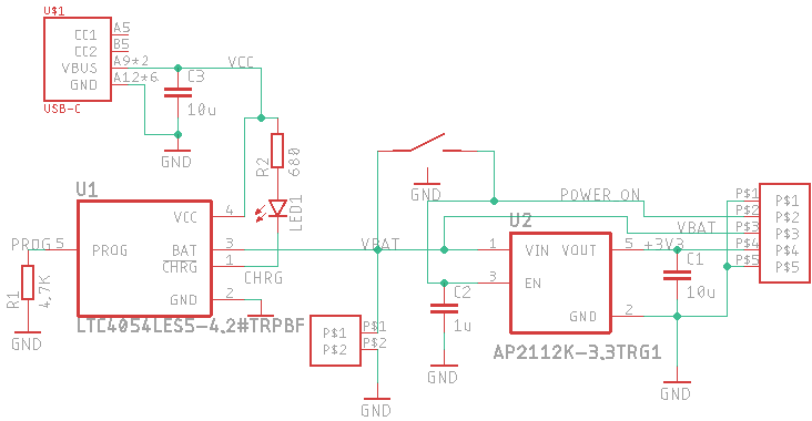 Schematic of the power board