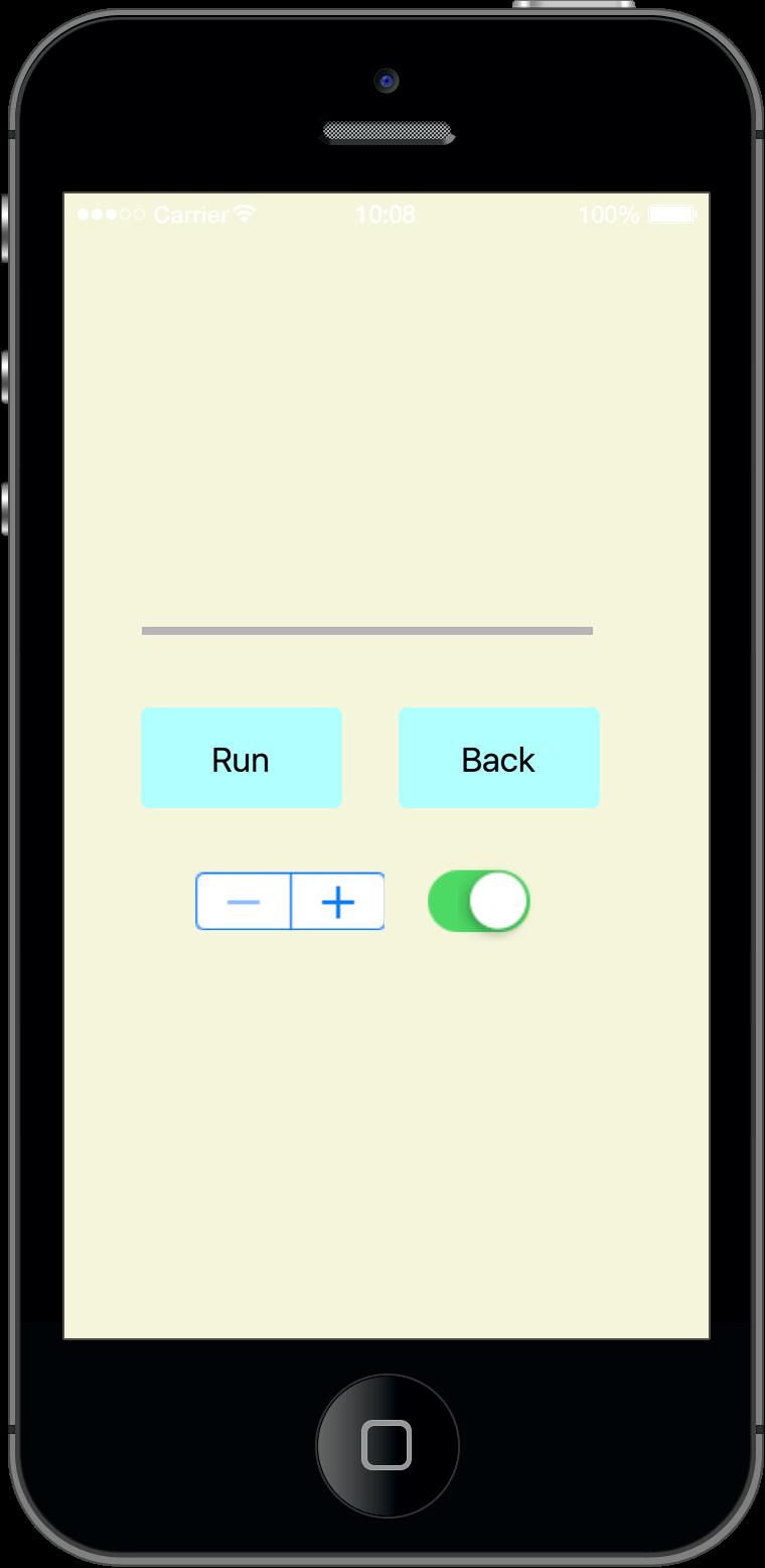 在 Corona 程式中,藉由按鈕觸發事件