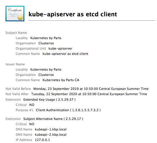 kube-apiserver cert for connecting to etcd