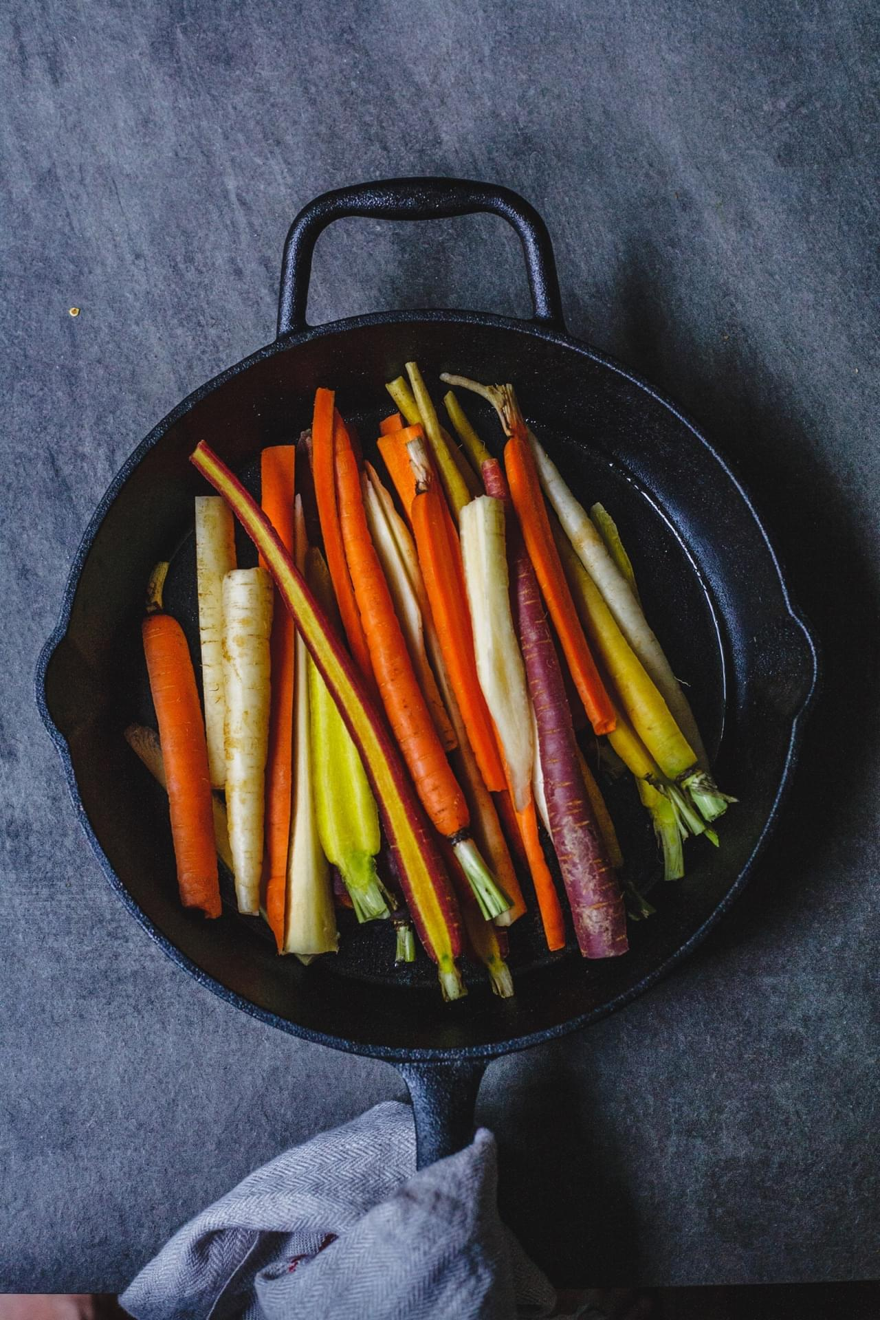 Honey And Harissa Glazed Carrots