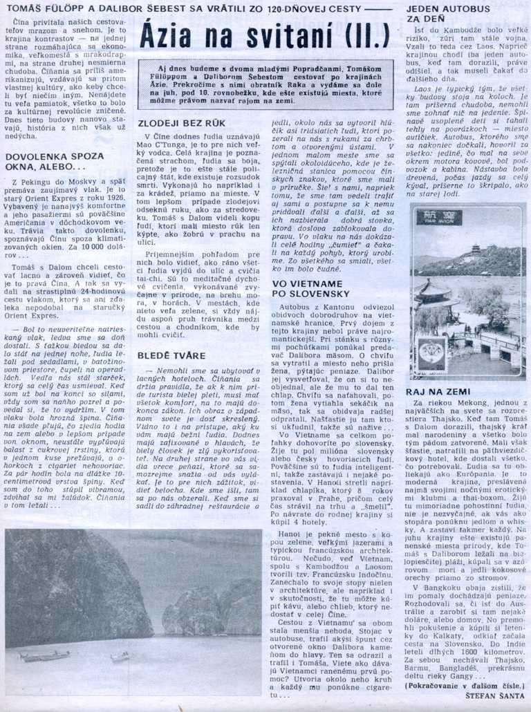 Noviny Poprad: Ázia na svitaní (II.)