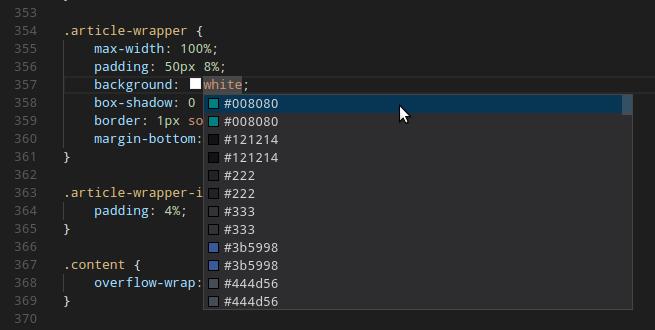 Autocomplete CSS