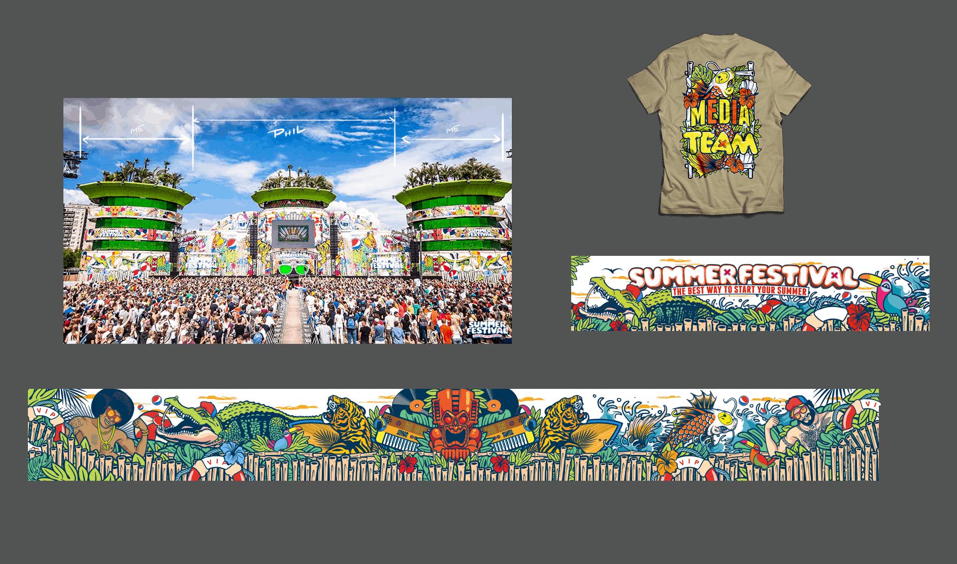 Bert Deckers Creative Summer Festival Main Stage T-shirts