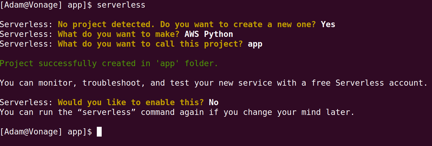 AWS Lambda Python Project Creation With Serverless