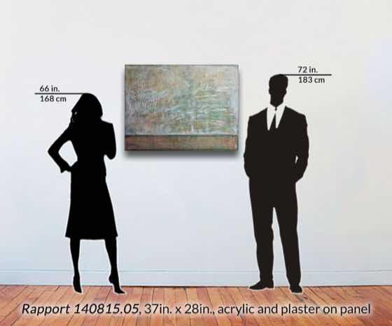 acrylic, plaster on wood panel, 37 in. x 28 in. (94 cm x 71 cm)