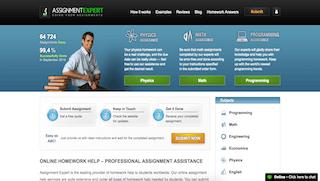 assignmentexpert.com main page